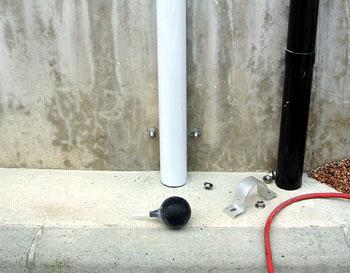 支柱とアンカーボルト